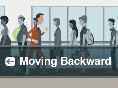 MOVING BACKWARD