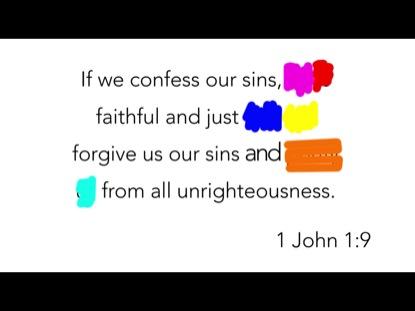 SCRIBBLE VERSE- 1 JOHN 1:9