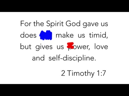 SCRIBBLE VERSE- 2 TIMOTHY 1:7