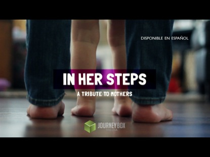 IN HER STEPS