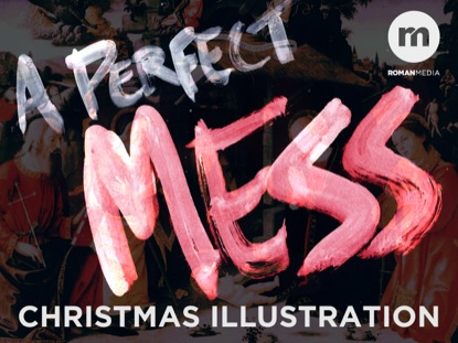 A PERFECT MESS CHRISTMAS ILLUSTRATION