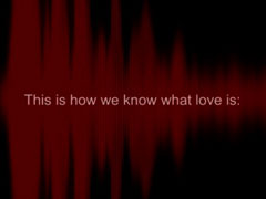 WHAT DOES LOVE SOUND LIKE?