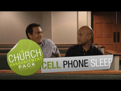 CHURCH ANNOUNCEMENT CELL PHONE SLEEP
