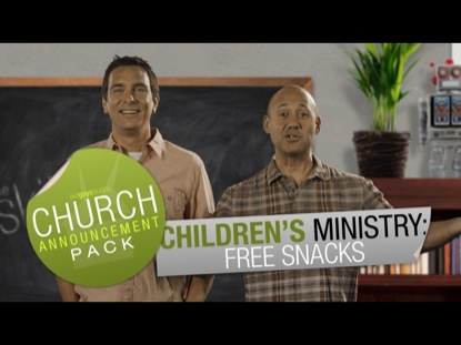 CHURCH ANNOUNCEMENT CHILDREN MINISTRY FREE SNACKS