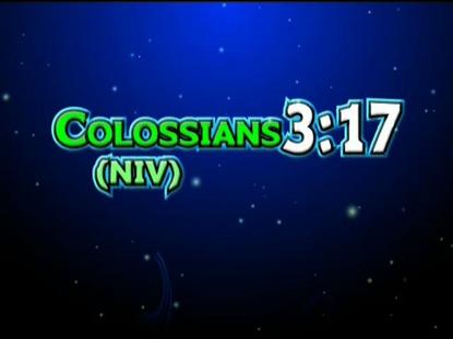 COLOSSIANS 3:17 NIV