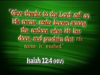 ISAIAH 12:4 NIV