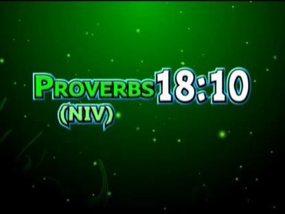 PROVERBS 18:10 NIV
