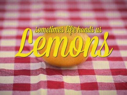 SOMETIMES LIFE HANDS US LEMONS