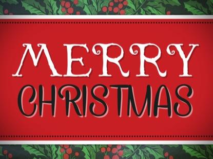 HOLLY MERRY CHRISTMAS LOOP