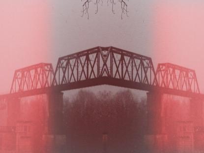 RED BRIDGE WITH SNOW
