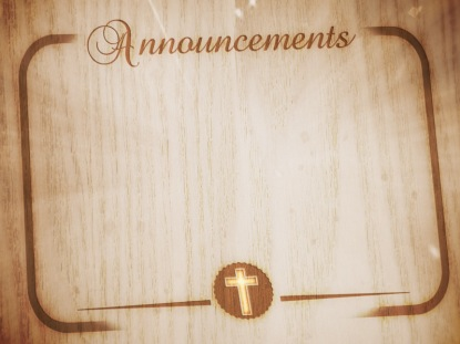 WOOD GRAIN ANNOUNCEMENTS MOTION 2