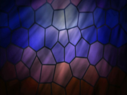 STAINED GLASS BLUE PURPLE
