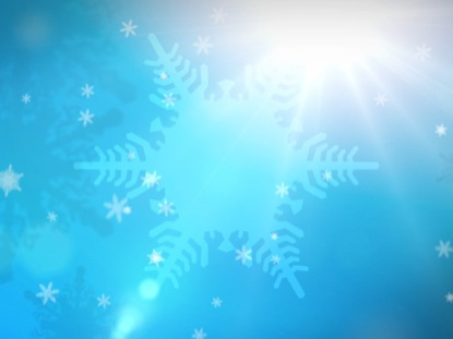 BLUE SPINNING SNOWFLAKES