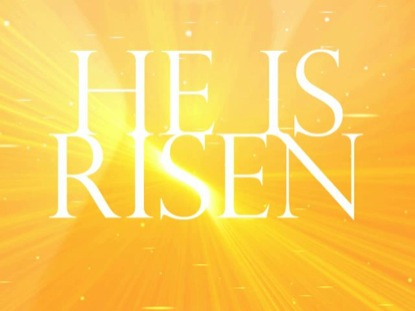 HE IS RISEN SHINING GOLD
