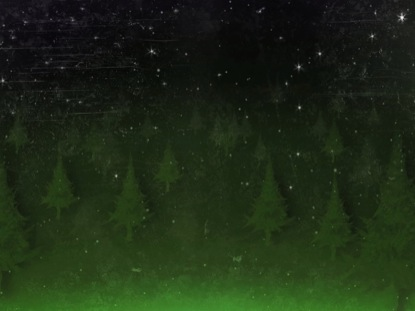 SNOWY FOREST TEXTURE GREEN