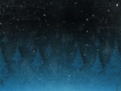 SNOWY FOREST TEXTURE ICE BLUE