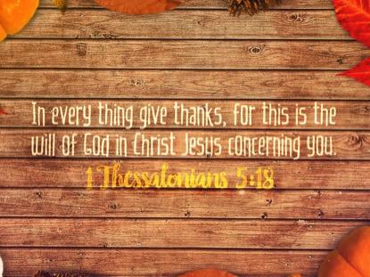 GRATITUDE SCRIPTURE MOTION
