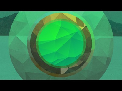 RGB POLYGONAL CIRCLES GREEN