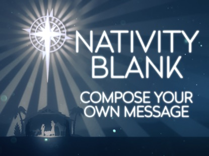 ANGELIC NATIVITY BLANK LOOP