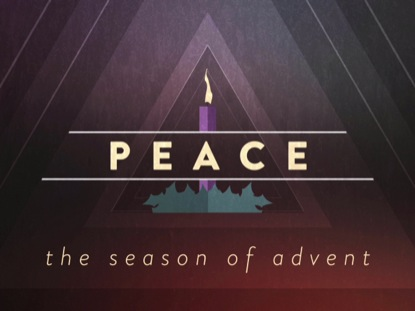 CHRISTMAS ADVENT CANDLES PEACE