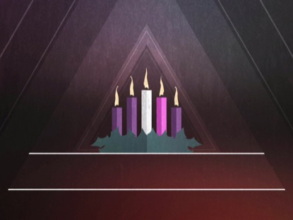 CHRISTMAS ADVENT CANDLES WEEK 05 BLANK