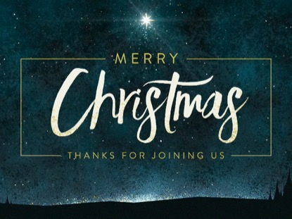 CHRISTMAS EVE LIGHT MERRY CHRISTMAS