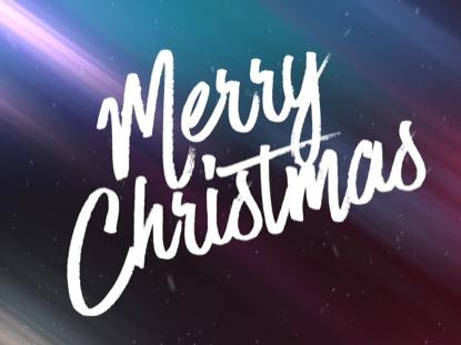 CHRISTMAS STREAKS AND SNOW MERRY CHRISTMAS