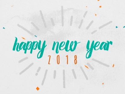 COLORFUL CONFETTI HAPPY NEW YEAR (2018)