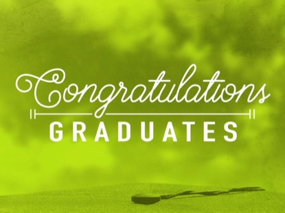 CONGRATULATIONS GRADUATES TITLE GREEN