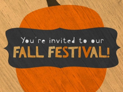 CUTE FALL FESTIVAL INVITE