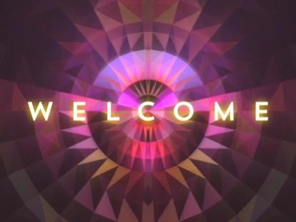 GEOMETRIC GLOW WELCOME