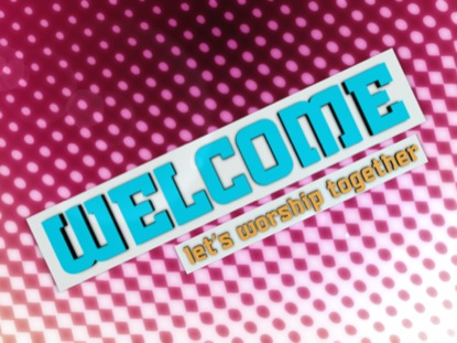 HALFTONE WELCOME