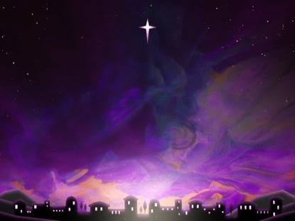 PAINTED CHRISTMAS BETHLEHEM