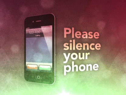 SILENCE YOUR PHONE VINTAGE LOOP