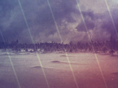SNOWY FIELD AND CLOUDS VINTAGE WORSHIP LOOP