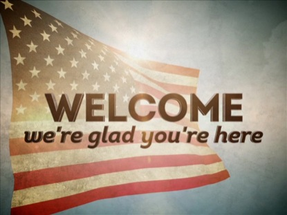 THE AMERICAN FLAG WELCOME