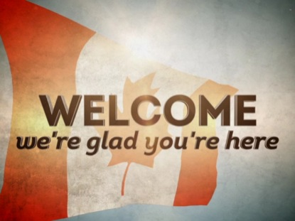 THE CANADIAN FLAG WELCOME