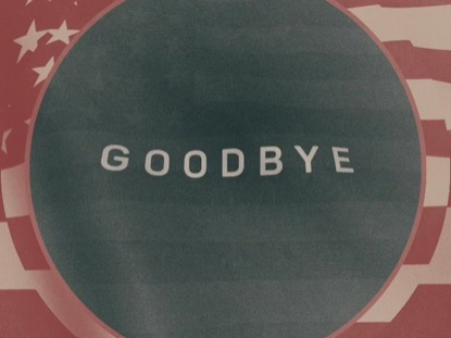 VINTAGE WAVING AMERICAN FLAG CLOSING