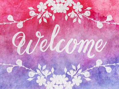 WATERCOLOR CARD WELCOME