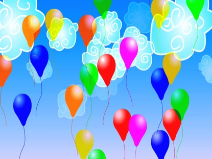 KIDS CLOUDS AND BALLOONS