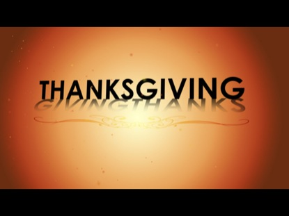 THANKS-GIVING-THANKS MOTION