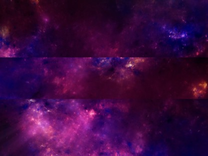 SPACE UPWARD SCROLL PINK AND BLUE HORIZONTAL BAR