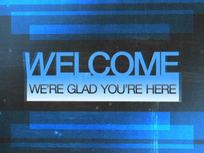 BLUE OVERLAY WELCOME