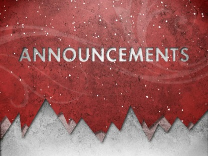 CHRISTMAS SNOW ANNOUNCEMENTS