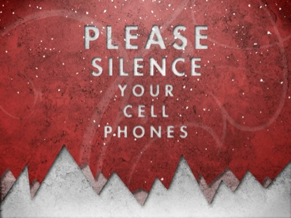 CHRISTMAS SNOW CELL PHONES