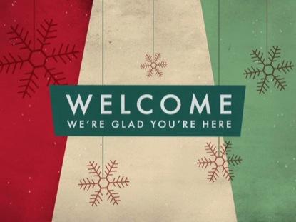 RETRO CHRISTMAS WELCOME