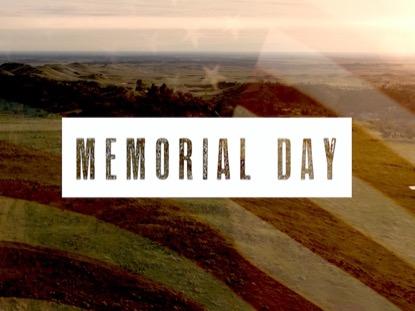 MEMORIAL DAY FLAG AERIAL 1
