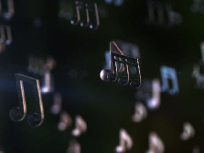 RISING MUSIC NOTES LOOP