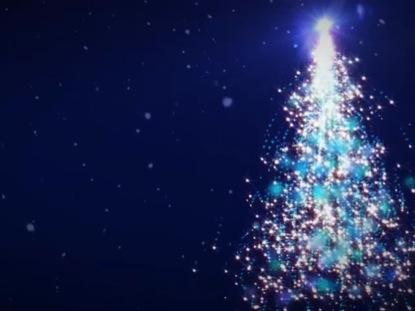 SPARKLING TREE LOOP BLUE