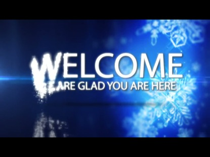 WELCOME CHRISTMAS FLAKES LOOP